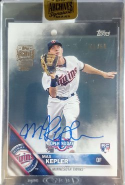 2017 Topps Archives Signature Series Max Kepler 2016 Opening Day