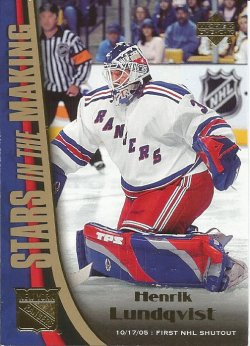 2005 Upper Deck Stars In The Making Henrik Lundqvist