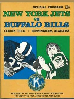 1970  Program OJ Simpson Joe Namath