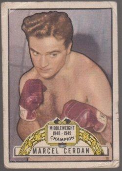 1951 Topps ringside marcel cerdan
