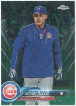 2018 Topps Chrome Photo VAR Green Refractors Anthony Rizzo