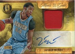 2014-15 Panini Gold Standard McGee, Javale - Marks of Gold Jersey Autographs
