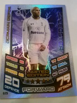 2012 Topps Limited Edition Match Attax 12-13 #5 Jermaine Defoe