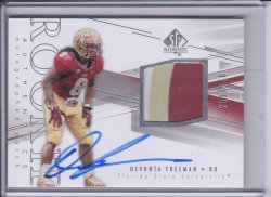 Devonta Freeman 2014 SP Authentic RC Patch AUTO /550