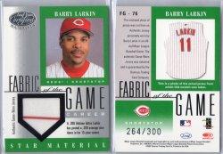 2001 Leaf Certified Materials Barry Larkin