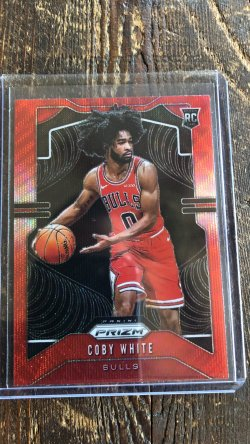 2018-19 Panini Prizm Coby White - Ruby Wave