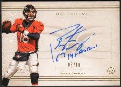 "2015   Peyton Manning Topps Definitive ""14x Pro Bowl"" Inscription Auto #9/10"