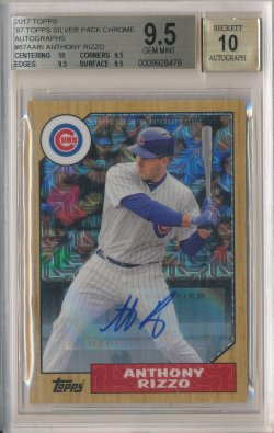2017 Topps 87 Topps Silver Pack Chrome Autographs #87AARI Anthony Rizzo S2/15