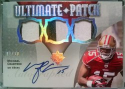 2009 Upper Deck Ultimate Collection Michael Crabtree ultimate patch auto