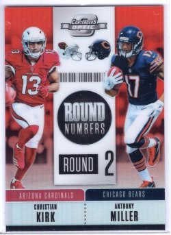 2018 Playoff Contenders Optic Anthony Miller Round Numbers Orange