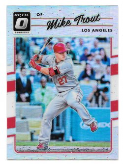 2017 Panini Donruss Optic Holo Mike Trout
