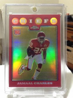 2008 Topps Chrome  Jamaal Charles red ref/25