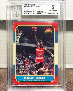 1986 Fleer  Michael Jordan BGS 5