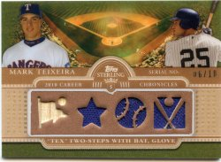 2010 Topps Sterling Mark Teixeira Career Chronicles Quad 10