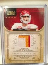 2012 Panini National Treasures Matt Cassel Patch /23