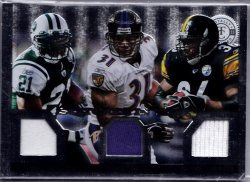 2013 Panini Totally Certified Stitches In Time GU Jersey RElic Ladanian Tomlinson / Jamal Lewis / Jerome Bettis