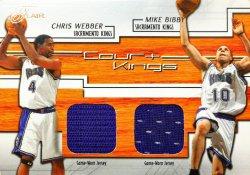 2002-03  Flair Court Kings Dual Chris Webber / Mike Bibby #ed 65/250