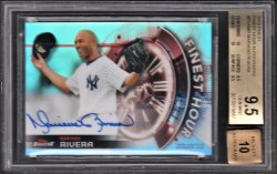 2018   Mariano Rivera Topps Finest Hour Auto SSP BGS 9.5/10