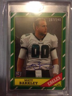 2013 Topps  Matt Barkley 1986 Rookie Autographs