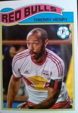 2013 Topps MLS 1978 English Footballer Set Thierry Henry