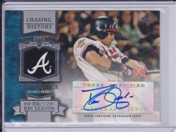 David Justice 2013 Topps Chasing History AUTO