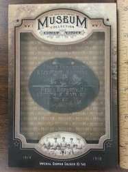 2014 Upper Deck Godwin Champions Museum Collection WWI ID Tag