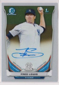 2014 Fred Lewis Bowman Chrome  On-Card Auto RC   Yankees B1770