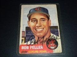 1953 Topps  Bob Feller on Card Auto