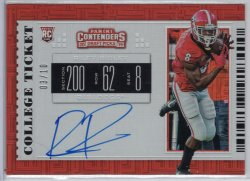 2019 Panini Contenders Draft Picks Riley Ridley RPS College Building Blocks Ticket Variation A
