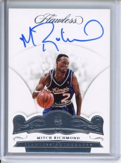 2018-19 Panini Flawless Mitch Richmond Flawless Autographs