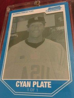 2006 Bowman Chrome CYAN 1/1Printing Plate CAMERON MAYBIN #BDPP107 Detroit Tiger RC OF