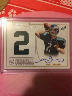 2013 Panini National Treasures Matt Barkley Colossal