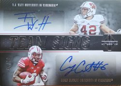 2017  Majestic TJ Watt / Corey Clement Team Signs