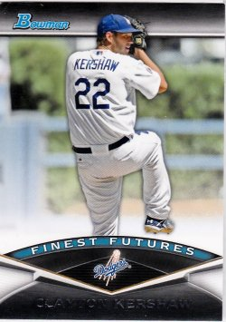 2011 Bowman Finest Futures Clayton Kershaw