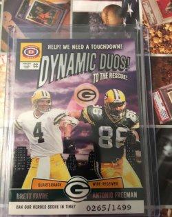 2001  Pacific Dynagon Dynamic Duos Brett Favre/Antonio Freeman