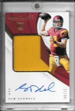 2018 Panini Immaculate Sam Darnold Patch Auto RC