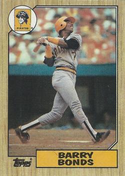 1987 Topps  Barry Bonds
