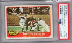 1965 Topps Topps WS Game 3 Mantles Clutch HR