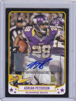 2013 Topps Magic Adrian Peterson Black Auto