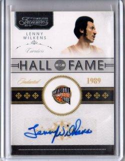 2009 Panini National Treasures Lenny Wilkens Hall of Fame
