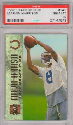 1996  Stadium Club Marvin Harrison