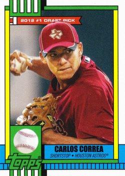 2017 Topps Throwback Thursday Carlos Correa Greatest #1 Picks