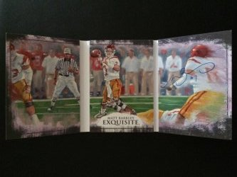 2013 Upper Deck Exquisite  Matt Barkley Hand-Drawn Autographed Triptych