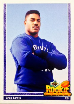 1991 Upper Deck Rookie Force Greg Lewis