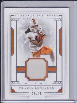 Travis Benjamin 2016 Panini National Treasures Collegiate Jersey /25