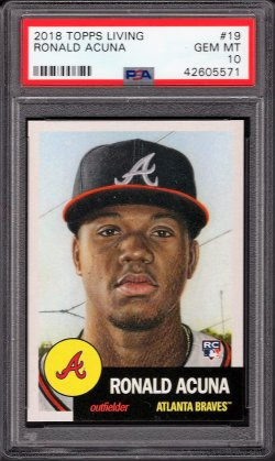 2018   Ronald Acuna Topps Living RC PSA 10 #1