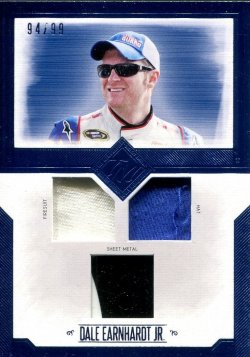 2014 Press Pass Total Memorabilia Triple Swatch Dale Earnhardt Jr. Sheet Metal, Firesuit, Hat