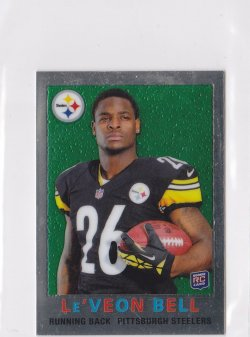 2013 LeVeon Bell Topps Chrome 1959 Mini  RC    Steelers A5724