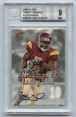 2006 Ultra Target Exclusive Rookie Autographs #203 Reggie Bush SP BGS 9/10 (POP 1 As of 7 May 2021)