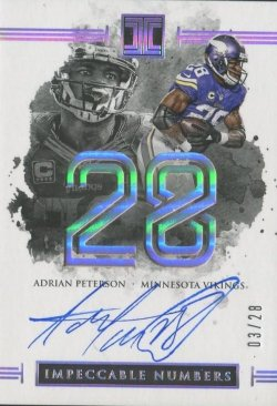 2016 Panini Impeccable Adrian Peterson Auto